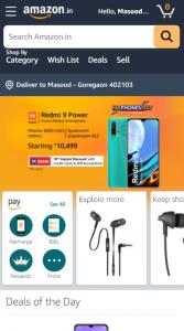 Amazon website or mobile app