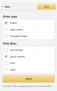 order filter